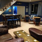 Bar area at The Moorings, Dale Yacht Club