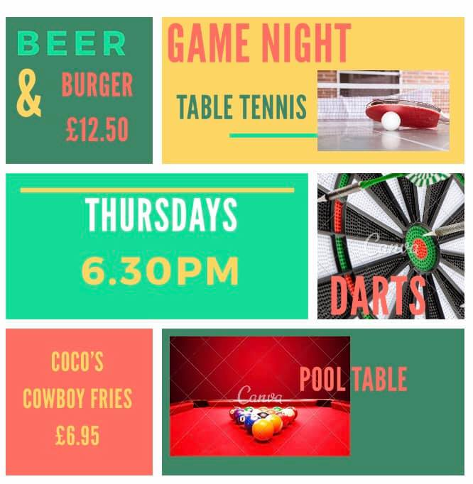 Cocos Brasserie - Games Nights